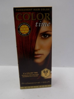 COLOR TIME Barva na vlasy 65 FIERY RED