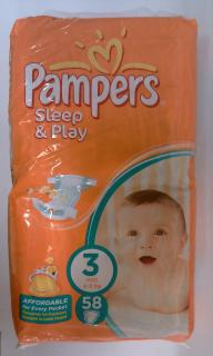 Pampers Sleep&Play 3 midi 4-9kg 58ks